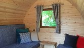 Bedroom in the Resipole Camping Pods